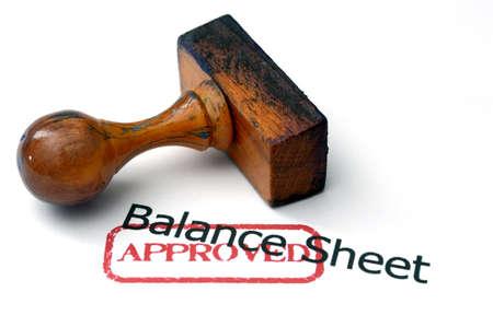 Balance sheet - approved Stock Photo - 21920253
