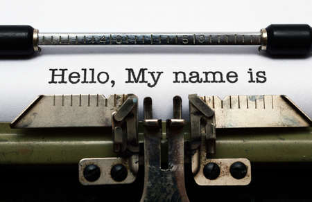 typewriter: Hello, my name is