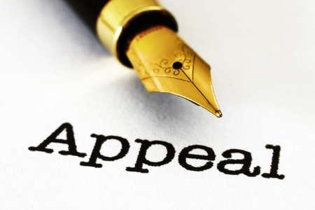 Appeal Stockfoto