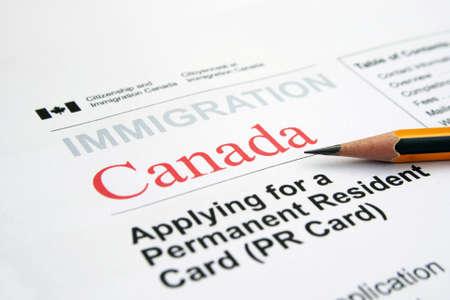 Immigration Canada Standard-Bild