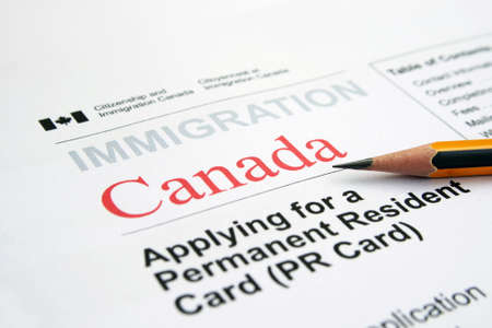 Immigration Canada Stockfoto