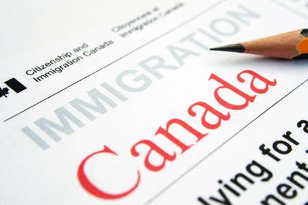 Immigration Canada Stock Photo