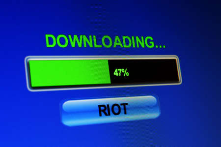 downloading: Downloading riot Stock Photo