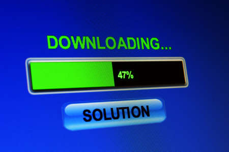 Downloading solution Stock Photo - 21964938