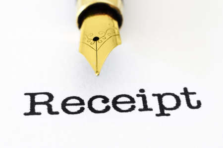 tax tips: Receipt Stock Photo