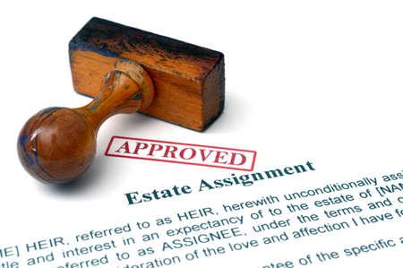 Estate assignment Standard-Bild