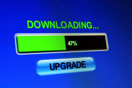 screen showing progress of upgrade download photo