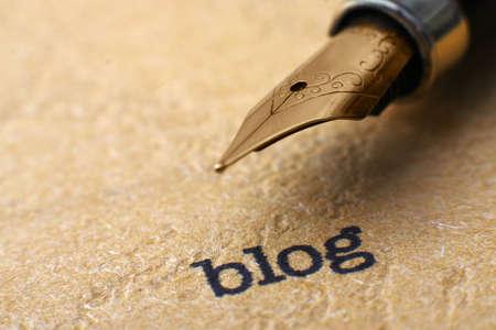 ブログとペン