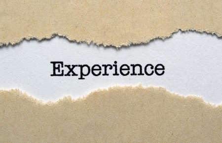 Experience Stock Photo