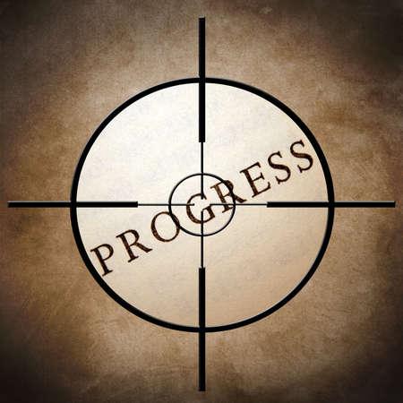 Progress target photo