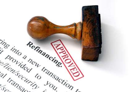 Refinancement - approuvé Banque d'images