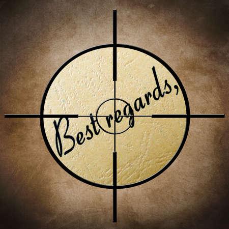best regards: Best regards target