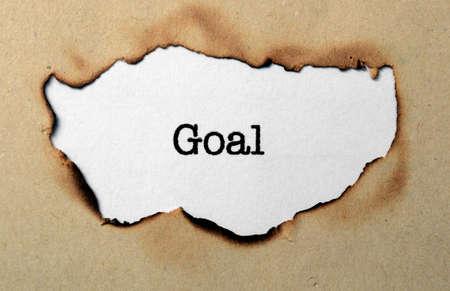 Goal concept photo
