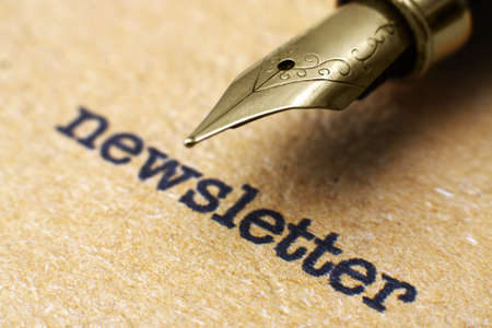 Newsletter and pen