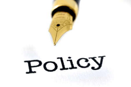 definition define: Policy and pen