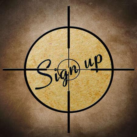 Sign up target Stock Photo - 22187773