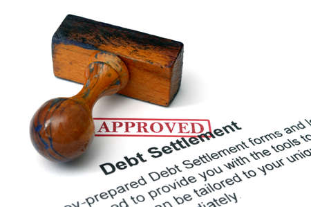 Debt settlement Stock Photo - 22224184