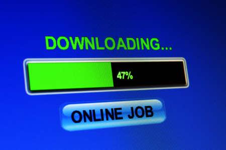 Online job download Stock Photo - 22224189