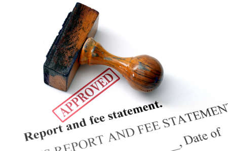 fee: Report and fee statement