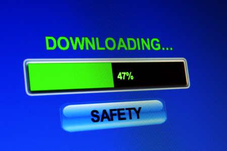 warez: Download safety Stock Photo