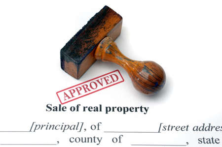 approved: Sale of real property Stock Photo
