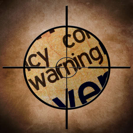 Warning text on target Stock Photo - 22690390
