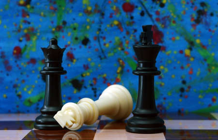 divergent: Chess against colorful background