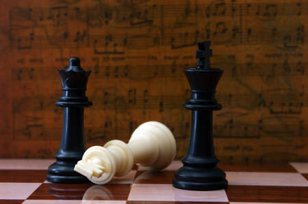 boardgames: Chess against musical background