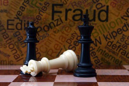 spy ware: Chess and fraud concept Stock Photo