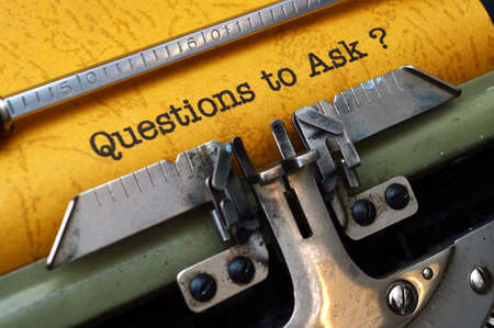 frequently asked question: Questions to ask Stock Photo