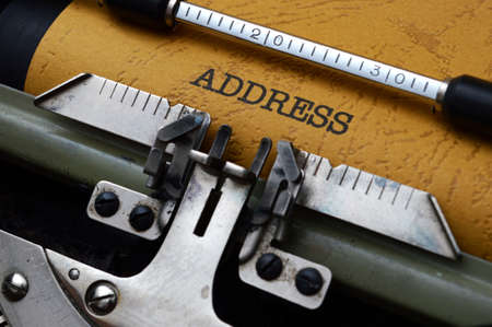 Address on typewriter photo