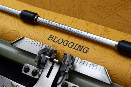 typewriter: Blogging concept