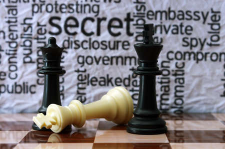 military press: Chess and security concept