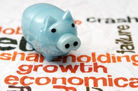Tirelire sur le concept de l'économie de croissance Banque d'images