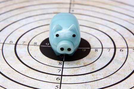 Piggy bank target concept Stock Photo - 22859848