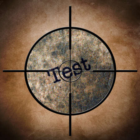 Test target concept photo