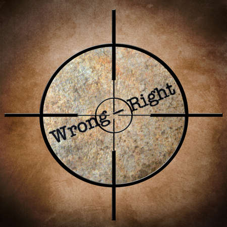 Wrong - right target concept
