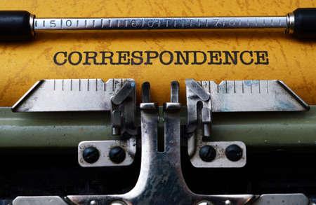 correspondencia: Texto de trabajo por correspondencia sobre la m�quina de escribir