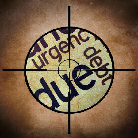 overdraft: Due debt target concept