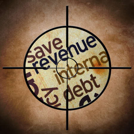 exemptions: Revenue target Stock Photo