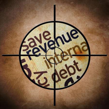 exemptions: Revenue target Stock Photo