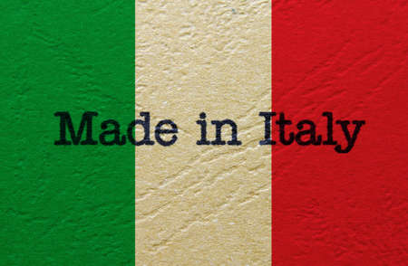 the italian flag: Made in Italia Archivio Fotografico