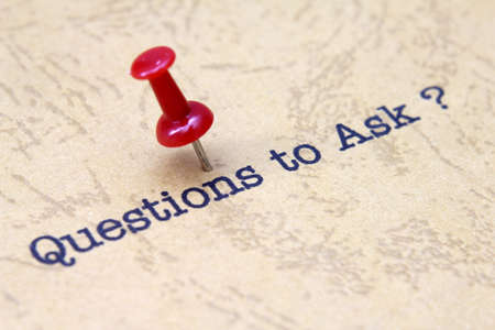 questions: Questions to ask Stock Photo