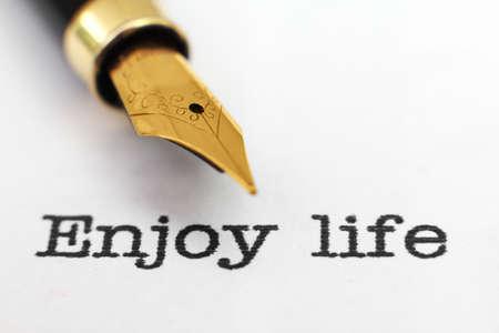 enjoy life: Enjoy life