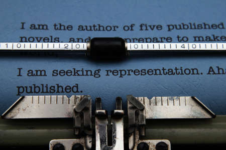 Publishing letter on typewriter photo