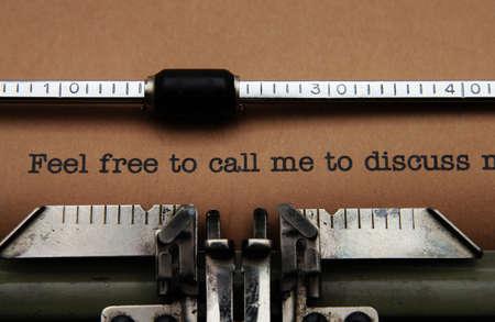 call me: Feel free to call me