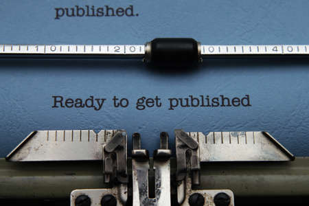 published: Ready to get published Stock Photo