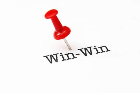 jargon: Push pin on win-win