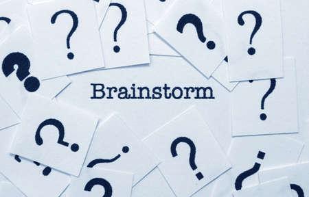 onbeantwoorde: Brainstorm-concept Stockfoto