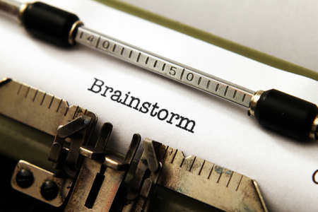 Brainstorm text on typewriter photo